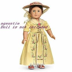 NIB American Girl Felicity Tea Lesson Dress GOWN, HAT, SLIPPERS Cecile Elizabeth