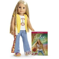 New American Girl Beforever Julie Doll and Paperback Book