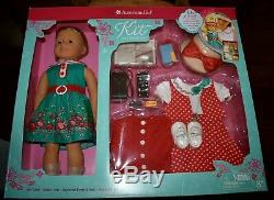 New American Girl Doll Kit Kittredge 16 Pieces Reporter Set Book Hat Incl
