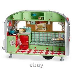 New NIB American Girl 18 Doll MaryEllen Airstream Trailer Camper Complete NIB