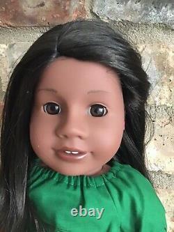 Nina Custom American Girl Doll Brown Eyes Addy Mold Black Brown Hair Ooak