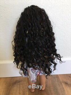 OOAK Custom American Girl Doll Black Hair, Deep Blue Eyes, Outfit Included