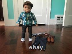 Original American Girl Logan Everett Doll PLUS performance outfit First boy