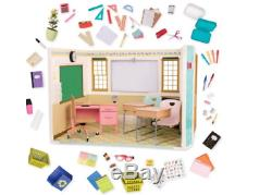 Our Generation Doll School Room House Set American Girls 18 Dolls Accessories