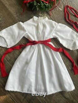 Pleasant Company American Girl Doll Kirsten St. Lucia Holiday Gown Wreath