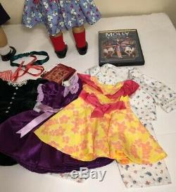 Pleasant Company American Girl Doll Molly and Emily Outfits & accessories EUC