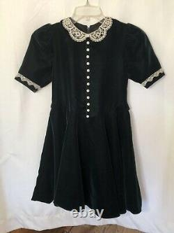 Pleasant Company American Girl MOLLY's Green Velvet CHRISTMAS DRESS CHILD SIZE 8