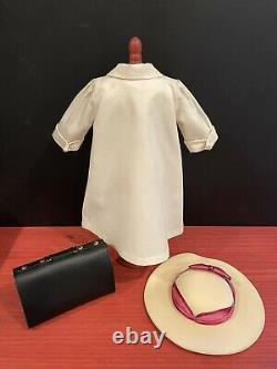 Pleasant Company American Girl Samantha Travel Duster, Hat, Valise & Ribbon EUC