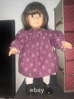 Pleasant Company Samantha Parkington American Girl Doll, Trunk, Clothes-Retired