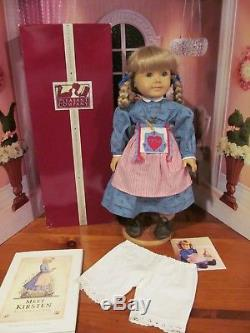 Pleasant Company White Body Kirsten doll in meet withbox, book and accessories
