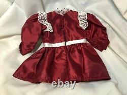 RARE American Girl Samantha HEART LACE Cranberry Christmas Dress