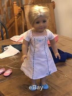 RETIRED American Girl Doll Caroline Abbot Bundle outfits, Inkpot cat, books