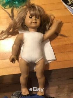 Retired American Girl Doll Pleasant Co. Trunk/bed/clothes. White Body Kirsten 89