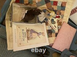Retired KIRSTEN Doll With Bed, Cat, Rag doll Pleasant Co. American Girl