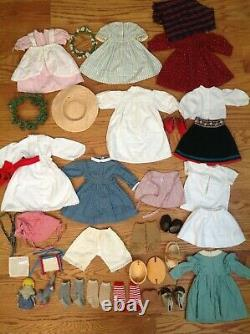 Retired Pleasant Company American Girl Kirsten Larson Doll 18 In Clothes Lot 30