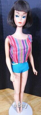 STUNNING Vintage Dark Brunette Long Hair Medium Color American Girl Barbie Doll