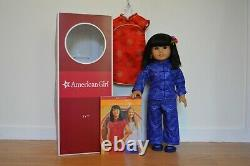 Used Ivy Ling retired American girl doll WITH book and two rare outfits