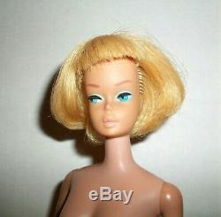 Vintage 1966 Japan Longer Blonde American Girl Barbie Bend Leg Doll Very Nice