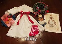 Vintage American Girl Kirsten's St. Lucia Holiday Outfit, wreath, tray, etc