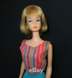Vintage Barbie Doll AMERICAN GIRL #1070 Long Silver Ash Blonde Hair Swimsuit