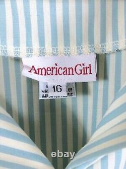 Vtg American Girl Sz 16 Kirsten Summer Dress Like Your Doll with Hat & Pantalettes