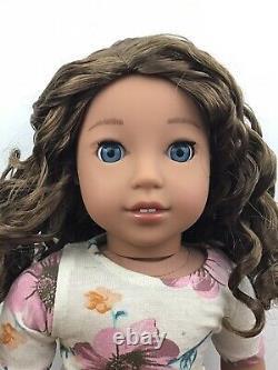 Zoe Custom OOAK American Girl Doll Brown Curly Hair Blue Eyes Nanea CYO Wig